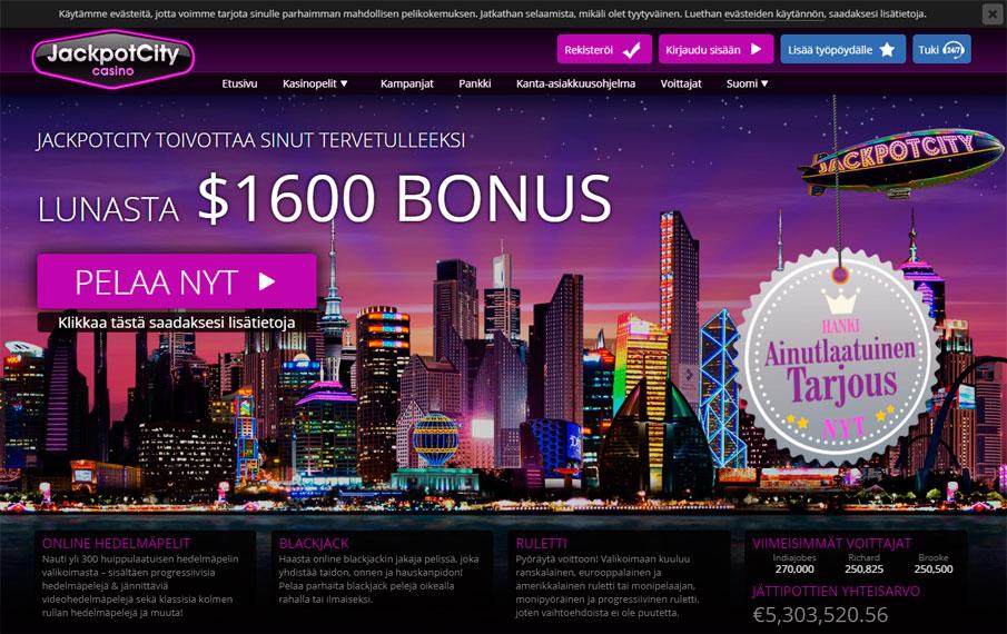 jackpot city casino arvostelu